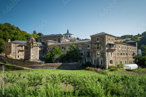 Poster Monastery of Samos, an important monastery and important crossing point of the j