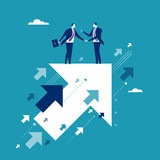 Agreement. Business illustration