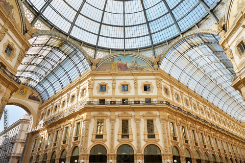 Foto op Canvas Milan Milan, Vittorio Emanuele gallery interior view in a sunny day
