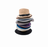Stacked of colorful female hat
