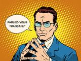 Fototapety Do you speak French translator language course