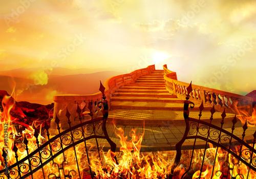 Fototapeta Road From Hell to Heaven