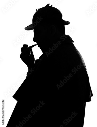 Sherlock Holmes silhouette famous detective Poster