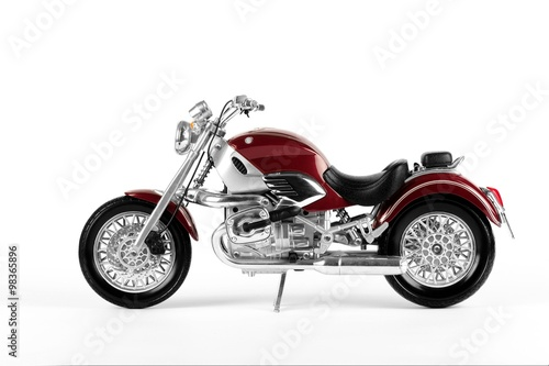 Classic and legend claret red motorcycle Poster