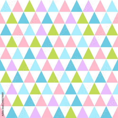 Abstract color pattern of geometric shapes. - 98379097
