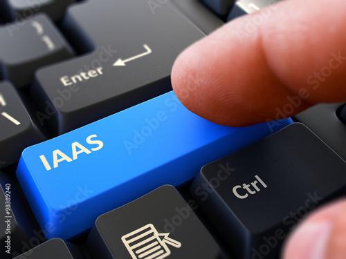IAAS - Written on Blue Keyboard Key.