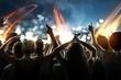 Obrazy na płótnie, fototapety, zdjęcia, fotoobrazy drukowane : Crowd at a concert