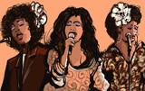 Three women jazz singers - 98392059