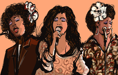 Three women jazz singers © Isaxar