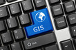 Conceptual keyboard - GIS (blue key)