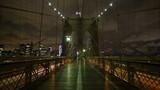 New York City Brooklyn Bridge Time lapse of the Brooklyn bridge in New York City. - 98399411