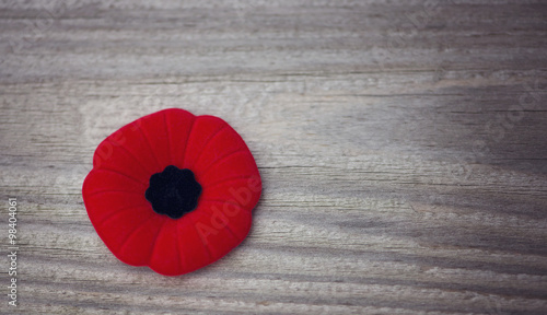 Fotobehang Klaprozen Remembrance Day poppy