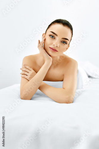 Tela Beauty Portrait. Woman Face. Spa Body, Skin Care Concept.