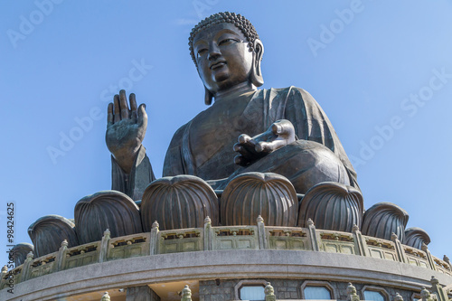 Poster, Tablou Tian Tan Big Buddha at Po Lin Monastery on Lantau Island, Hong  Kong