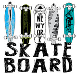 Fototapety Skate board typography, t-shirt graphics, vectors
