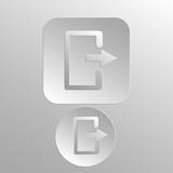 Иконка для интернета, Вдавленный и выпуклый стиль. Круглая и прямоугольная кнопка