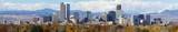 Denver, Colorado Skyline. Very large panorama of downtown Denver with Rocky Mountains in the background. - Fine Art prints
