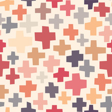 Hand drawn crosses seamless pattern