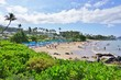 The Wailea beach area, on the West shore of the island of Maui in Hawaii