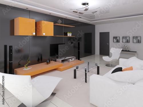 High tech living room design fotos de archivo e for Hi tech living room designs