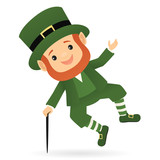 Leprechaun clicking his heels together
