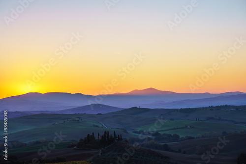 Panel Szklany Tuscany landscape