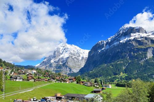 Poster スイス 登山鉄道車窓からのアルプスの風景