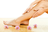 Beautiful female legs, smooth skin after waxing - 98491438