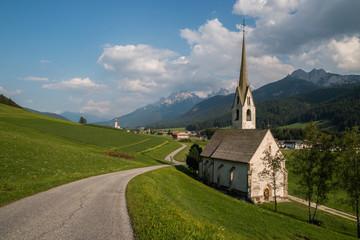 Kościół Santa Maddalena, Niederdorf, Niederdorf, Pustertal, Bolzano, Trentino Alto Adige, Włochy
