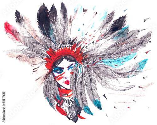 Fototapeta American Indian