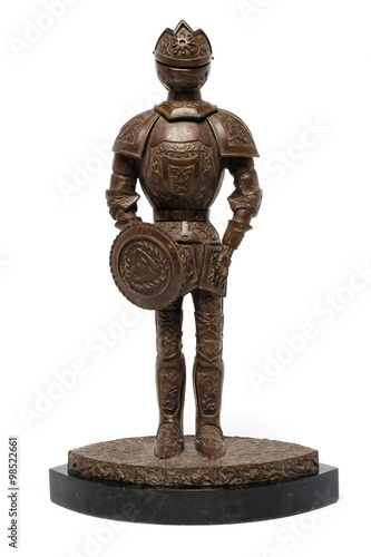 statuette knight on a stand Poster