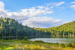 Lac in Mont-Tremblant national park in sunshine, Quebec, Canada