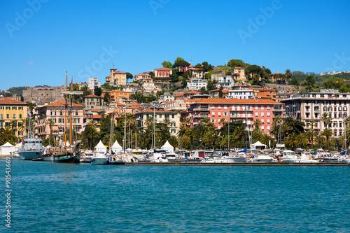 Cityscape of La Spezia - Liguria Italy / View of the city and the harbor of La Spezia - Liguria, Italy, Europe