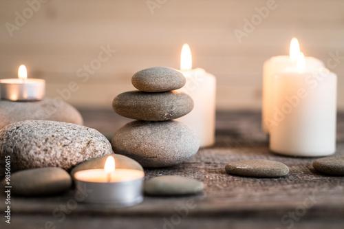 Fotobehang Spa Spa stones