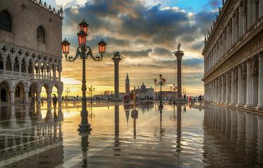 Wenecja plac świętego Marka woda