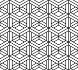 Vector modern seamless sacred geometry pattern 3d, black and white abstract geometric background, pillow print, monochrome retro texture, hipster fashion design