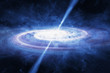 Quasar in deep space