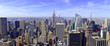 Panorama of Manhattan skyline in New York City, USA