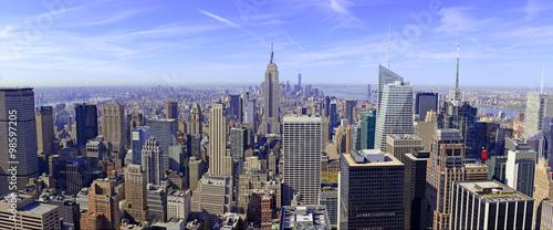 Panorama of Manhattan skyline in New York City, USA
