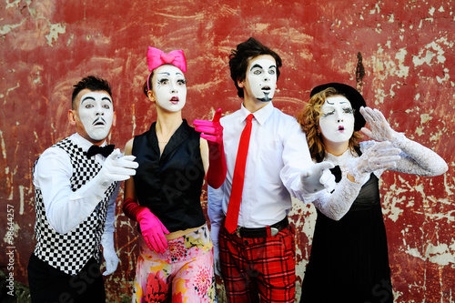 mimes depict different emotions Poster