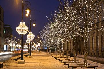 Nowy świat (nowy świat) ulicy w Warszawie. Polska