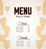 Menu icons design