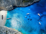 View of Navagio (Shipwreck) Beach in Zakynthos, Navagio Beach is