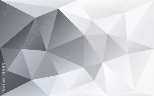 White and grey polygonal geometric background, right arrow trian - 98695875