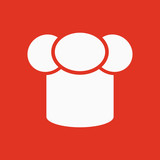 The toque icon. Chef and cook symbol. Flat