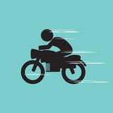 Motorcycle Vector Illustration.