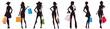 bags female silhouettes
