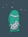 Monster eats moon