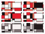 Mondrian style vector illustration - 98819497