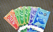 Canadian dollars Currency bank notes.